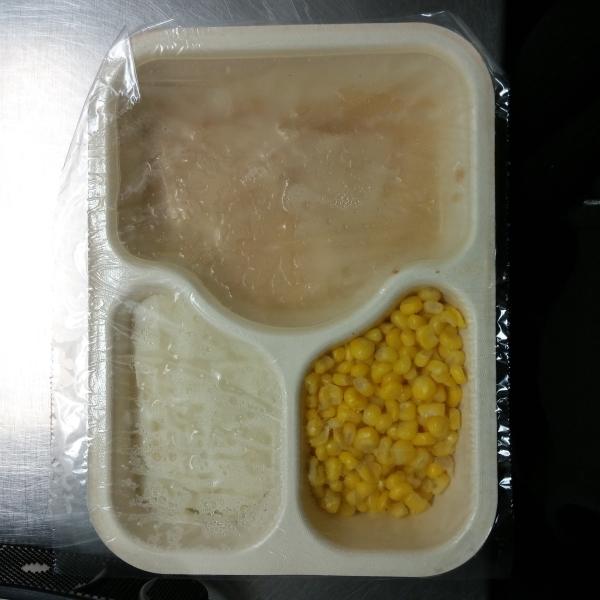 Hot meal portion