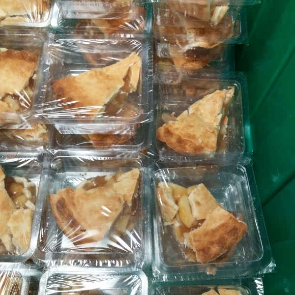 Pies ready to pack