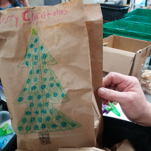 Individual cold bags are decorated